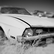 Mustang Death - Pearsonville, CA - Lensbaby - Infrared Black & White