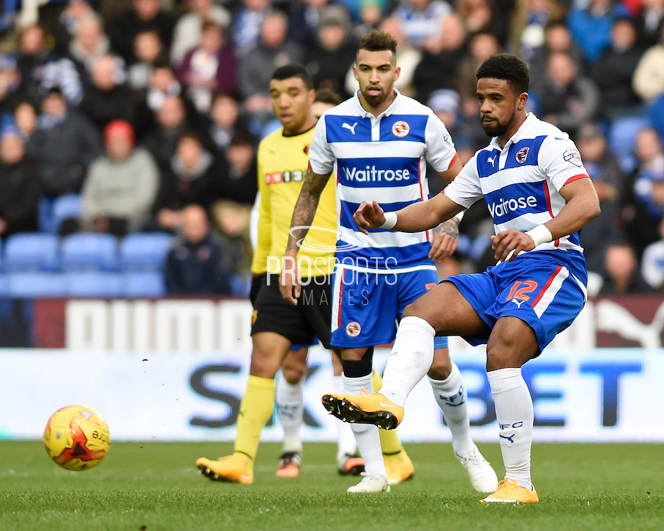 Garath McCleary during the Sky Bet Championship match between Reading and Watford at the Madejski Stadium, Reading, England on 20 December 2014. Photo by David Charbitt.