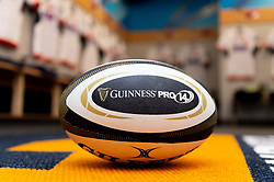 General views of a Guinness Pro 14 Match Ball in the Edinburgh Rugby changing room prior to kick off - Mandatory by-line: Ryan Hiscott/JMP - 05/10/2019 - RUGBY - Cardiff Arms Park - Cardiff, Wales - Cardiff Blues v Edinburgh Rugby - Guinness Pro 14