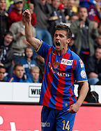 FC Basel midfielder Valentin Stocker jubilates after scoring to the score of 0-1 during the Super League (National League A) soccer match between BSC Young Boys (YB) and FC Basel (FCB) at the Stade de Suisse stadium in Bern, Switzerland, Sunday, Mai 16, 2010. FC Basel have won the Swiss football championship beating Young Boys of Bern 2-0 in the last match of the season. (Photo by Patrick B. Kraemer / MAGICPBK)