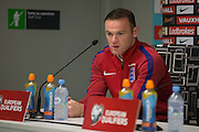 England Midfielder Wayne Rooney (Captain) during the England Press Conference at Stadion Stozce , Ljubljana, Slovenia on 10 October 2016. Photo by Phil Duncan.
