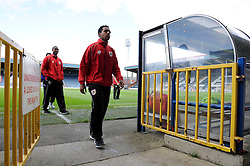 Bristol City's Korey Smith at Rochdale, Spotland Stadium - Photo mandatory by-line: Dougie Allward/JMP - Mobile: 07966 386802 23/08/2014 - SPORT - FOOTBALL - Manchester - Spotland Stadium - Rochdale AFC v Bristol City - Sky Bet League One