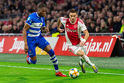 13-03-2019 NED: Ajax - PEC Zwolle, Amsterdam<br /> Ajax has booked an oppressive victory over PEC Zwolle without entertaining the public 2-1 / Dusan Tadic #10 of Ajax, Kingsley Ehizibue #20 of PEC Zwolle