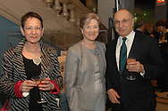 Ruth Newman, Kathryn Wylde and Harold Newman<br /> The New-York Histoircal Society.Opening of:Woven Splendor from Timbuktu to Tibet: Exotic Rugs and Textiles from New York Collectors