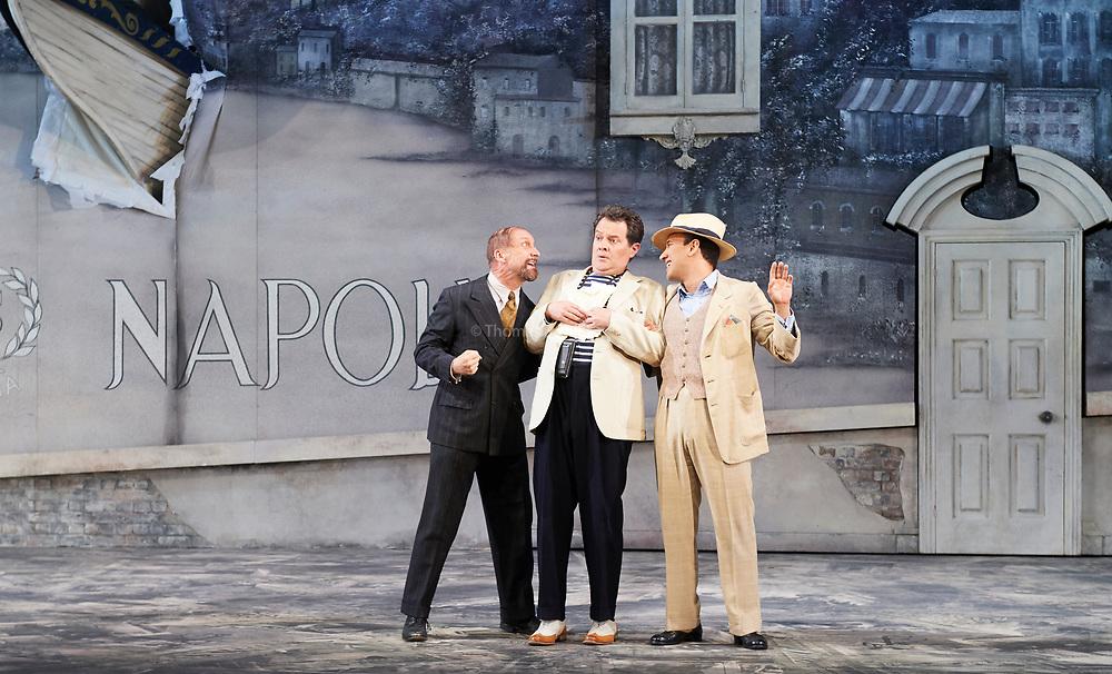 23nd June 2017.Il Turco in Italia, Rossini  at Garsignton Opera. <br /> <br /> Prosdocimo - Mark Stone<br /> Don Geronio - Geoffrey Dolton<br /> Narciso Luciano Betelho.