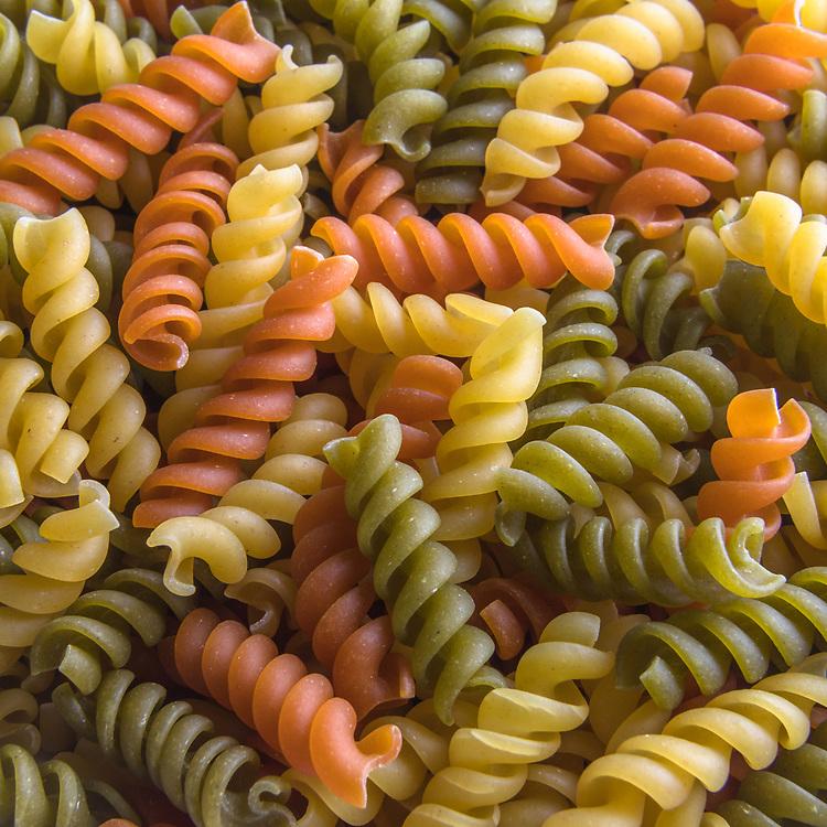 Macaroni, Muti-color, Pasta, Rotini