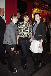 Left to right, sisters JADE DAVIDSON, SADIE FROST and HOLLY DAVIDSON at the launch party for the shop 'Lost in Beauty' 117 Regents Park Road, London NW1 on 22nd April 2008.<br />