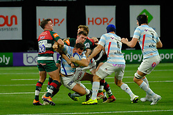 December 9, 2018 - Nanterre, Hauts de Seine, France - Racing 92 Lock BERNARD LE ROUX in action during the rugby Champions Cup Day 3 between Racing 92 and Leicester at U Arena Stadium in Nanterre - France..Racing 92 Won 36-26. (Credit Image: © Pierre Stevenin/ZUMA Wire)