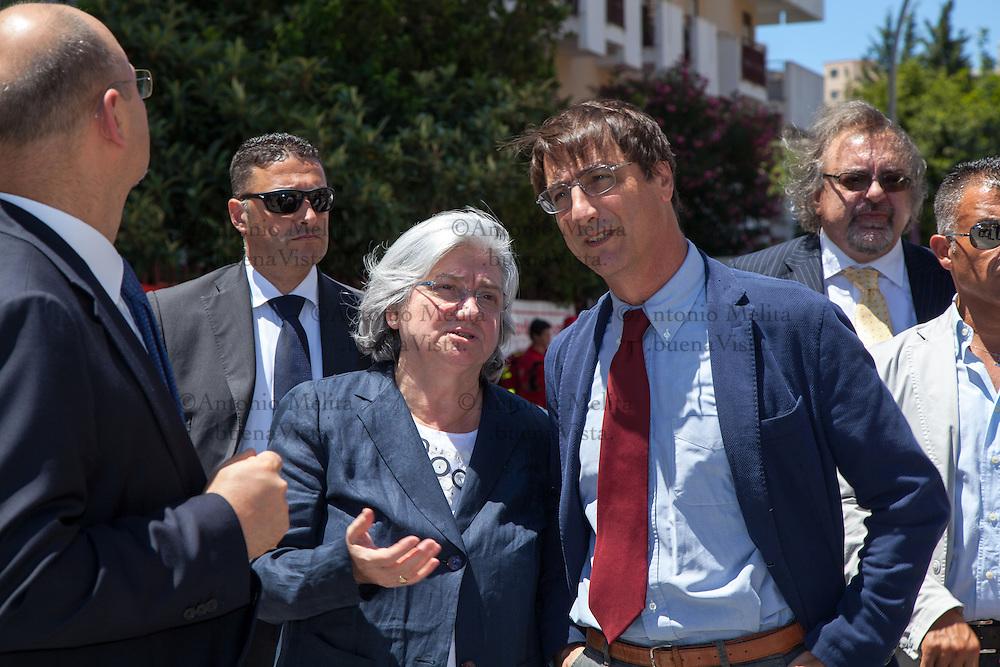 Via D'Amelio: la commissione antimafia, guidata dal Presidente Rosy Bindi, si è recata sul luogo della strage dove 24 anni fa' persero la vita il giudice Paolo Borsellino e la sua scorta.