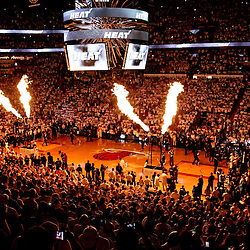 Jun 21, 2012; Miami, FL, USA; A general vie prior to tip off for game five in the 2012 NBA Finals between the Oklahoma City Thunder and the Miami Heat at the American Airlines Arena. Mandatory Credit: Derick E. Hingle-US PRESSWIRE