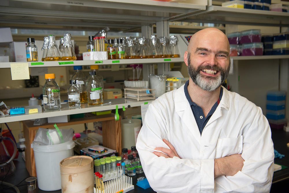 Ronan Carroll, Assistant Professor in the department of Biological Sciences. © Ohio University/ Photo by Ben Siegel