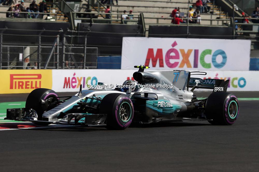 &copy; Photo4 / LaPresse<br /> 27/10/2017 Mexico City, Mexico<br /> Sport <br /> Grand Prix Formula One Mexico 2017<br /> In the pic: Valtteri Bottas (FIN) Mercedes AMG F1 W08