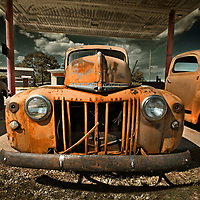 This classic pickup is missing a few teeth from the grille.  I found this abandoned truck on the roadside in Texas.