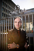 Petros Protopappas is the head curator of the Omega museum at Omega watch group in Biel, Switzerland Image © Angelos Giotopoulos/Falcon Photo Agency