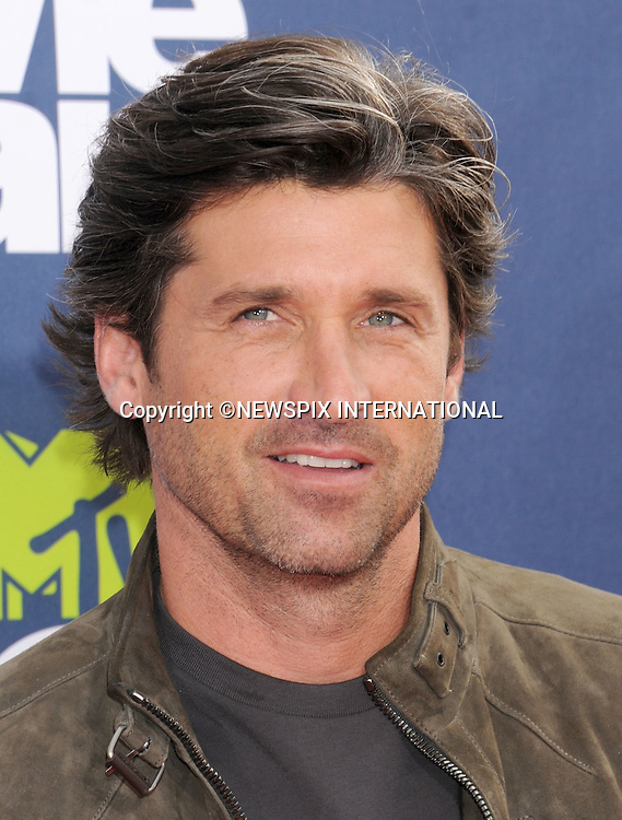 """PATRICK DEMPSEY.attends the 2011 MTV Movie Awards at the Gibson Amphitheatre on June 5, 2011 in Universal City, California.Mandatory Photo Credit: ©Crosby/Newspix International. .**ALL FEES PAYABLE TO: """"NEWSPIX INTERNATIONAL""""**..PHOTO CREDIT MANDATORY!!: NEWSPIX INTERNATIONAL(Failure to credit will incur a surcharge of 100% of reproduction fees)..IMMEDIATE CONFIRMATION OF USAGE REQUIRED:.Newspix International, 31 Chinnery Hill, Bishop's Stortford, ENGLAND CM23 3PS.Tel:+441279 324672  ; Fax: +441279656877.Mobile:  0777568 1153.e-mail: info@newspixinternational.co.uk"""