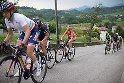 Karol-Ann Canuel (CAN) of Boels-Dolmans Cycling Team rides up on the day's main climb during the Giro Rosa 2016 - Stage 1. A 104 km road race from Gaiarine to San Fior, Italy on July 2nd 2016.