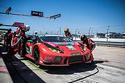 March 15-17, 2018: Mobil 1 Sebring 12 hour. 48 Paul Miller Racing, Lamborghini Huracan GT3, Bryan Sellers, Corey Lewis, Madison Snow pitstop