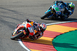September 22, 2018 - Dani Pedrosa (Repsol Honda Team) and Franco Morbidelli (EG 0,0 Marc VDS) in action during the Gran Prix Movistar the Aragón. 22-09-2018  September 22, 2018. (Credit Image: © AFP7 via ZUMA Wire)