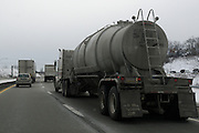 Heavy truck traffic associated with the fracking boom near Smithfield PA.