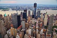 Lower Manhattan with Jersey City Skyline in Background
