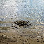 Pile of rocks in Walden <br /> <br /> pond
