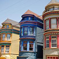 Painted Victorian Houses in San Francisco's Haight Ashbury Neighborhood