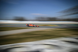 February 18, 2019 - Barcelona, Catalonia, Spain - SEBASTIAN VETTEL (GER) from team Ferrari drives in his in his SF90 during day one of the Formula One winter testing at Circuit de Catalunya (Credit Image: © Matthias OesterleZUMA Wire)