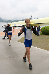 Rower's at Rowing World Cup  on May 30, 2010, at Bled's lake in Mala Zaka, Bled, Slovenia. (Photo by Vid Ponikvar / Sportida)