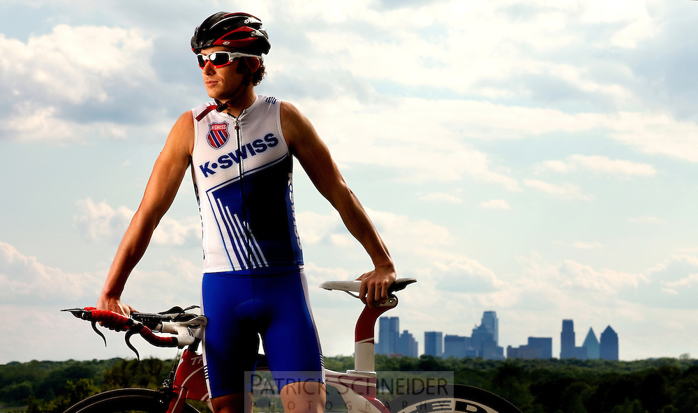 On-location portrait photography of Tri-Athlete in Dallas, Texas.<br /> <br /> Charlotte Photographer - PatrickSchneiderPhoto.com