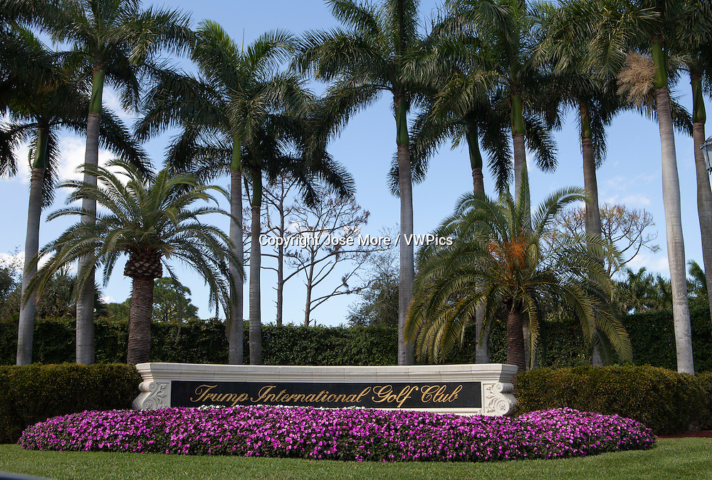 Trump International Golf Club in West Palm Beach, where President Trump frequently plays golf. The club is a short drive from his winter White House Mar-a-Lago in Palm Beach.