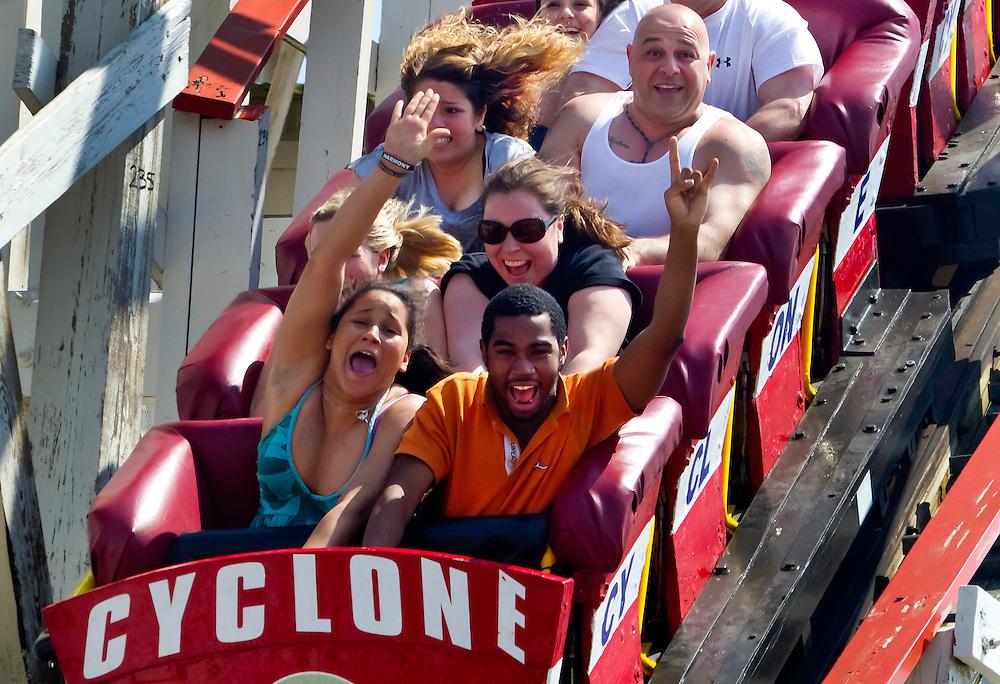 Hi! Coney Island, Brooklyn's Cyclone roller coaster.