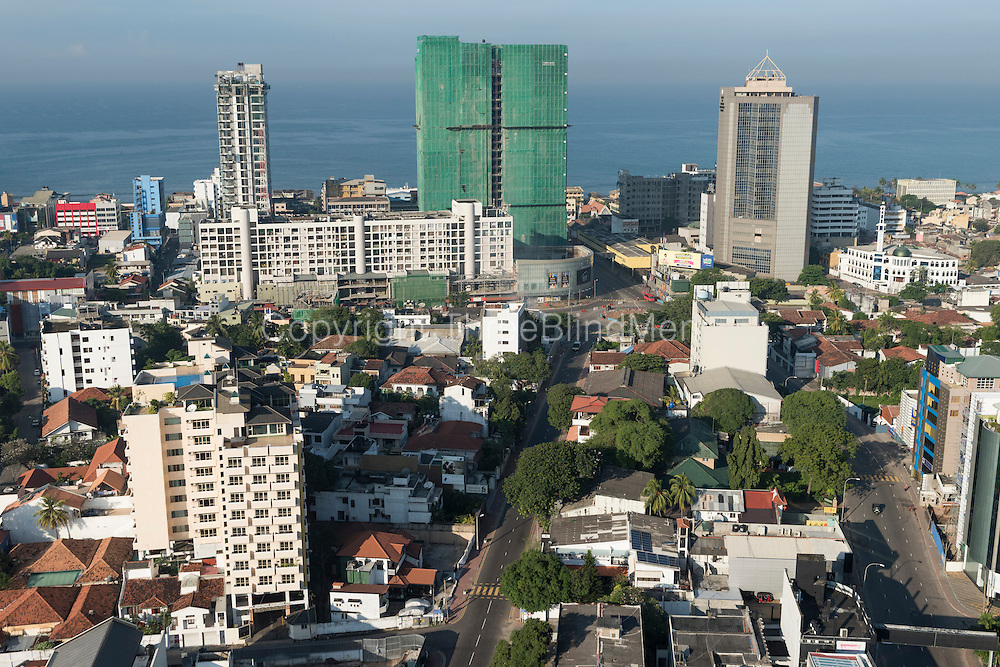 Colombo Skyline December 2014. View from Cinnamon Red Hotel in Colombo 7