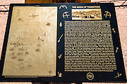 Interpretive plaque at the Tombstone Mines, Tombstone, Arizona USA