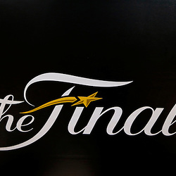 Jun 9, 2013; Miami, FL, USA;  General view of the Finals logo prior to game two of the 2013 NBA Finals between the Miami Heat and the San Antonio Spurs at the American Airlines Arena. Mandatory Credit: Derick E. Hingle-USA TODAY Sports