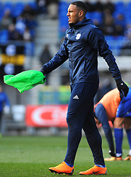 Kenneth Zohore of Cardiff City warms up- Mandatory by-line: Nizaam Jones/JMP - 17/02/2018 -  FOOTBALL - Cardiff City Stadium - Cardiff, Wales -  Cardiff City v Middlesbrough - Sky Bet Championship