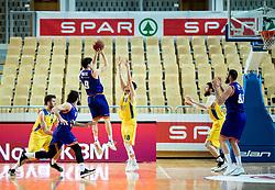 Aljaz Bratec of Helios Suns during basketball match between KK Hopsi Polzela and KK Helios Suns in semifinal of Spar Cup 2018/19, on February 16, 2019 in Arena Bonifika, Koper / Capodistria, Slovenia. Photo by Vid Ponikvar / Sportida