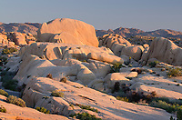 Sunrise over Jumbo Rocks area of Joshua Tree National Park California