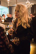 JERRY HALL, Nicky Haslam hosts dinner at  Gigi's for Leslie Caron. 22 Woodstock St. London. W1C 2AR. 25 March 2015