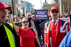 March 29, 2019 - London, London, UK - London, UK. Pro-Brexit campaigners demonstrate around Westminster on the day that Britain was originally due to leave the European Union. MPs today rejected Theresa May's withdrawal deal for the third time. (Credit Image: © Tom Nicholson/London News Pictures via ZUMA Wire)