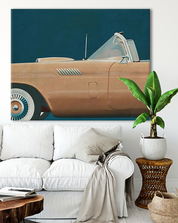 Interior decoration idea of what you can do with the Iconic and Classic cars series of the artist Jan Keteleer.<br />