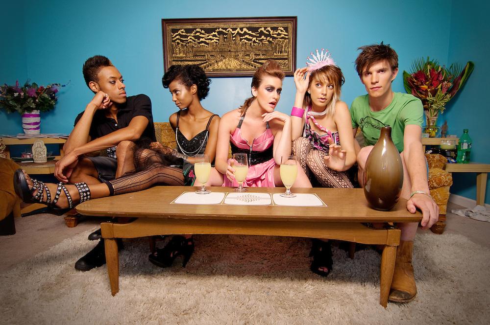STL Fashion label Trashbiscuit and their Summer 2010 designs. Models: Feleg, Blair Dinucci, Lexi Louise Landolt, Tyler Davis, Joe Luckey