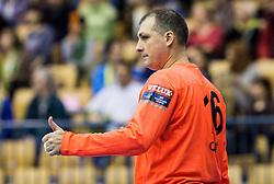Ivan Gajic of RK Celje PL during handball match between RK Celje Pivovarna Lasko and RK Gorenje Velenje in Eighth Final Round of Slovenian Cup 2015/16, on December 10, 2015 in Arena Zlatorog, Celje, Slovenia. Photo by Vid Ponikvar / Sportida