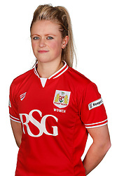 Millie Farrow of Bristol City Women poses for a headshot - Mandatory byline: Rogan Thomson/JMP - 21/02/2016 - FOOTBALL - Stoke Gifford Stadium - Bristol, England - Bristol City Women Team Photos.