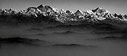The Himalaya with Mt. Everest, Mt. Lhotse and Mt. Makalu.