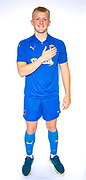 AFC Wimbledon defender Archie Procter (35) during the official team photocall for AFC Wimbledon at the Cherry Red Records Stadium, Kingston, England on 8 August 2019.
