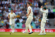 Wicket - Mitchell Marsh of Australia celebrates taking the wicket of Chris Woakes of England during the 5th International Test Match 2019 match between England and Australia at the Oval, London, United Kingdom on 12 September 2019.