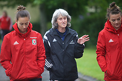 CARDIFF, WALES - Friday, August 19, 2016: Wales' Angie King during a pre-match walk at the Vale Resort ahead of the international friendly match against Republic of Ireland. (Pic by Laura Malkin/Propaganda)