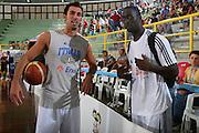 DESCRIZIONE : Cagliari Torneo Internazionale Sardegna a canestro Belgio Italia <br /> GIOCATORE : Tommaso Fantoni Mensah Bonsu Pops <br /> SQUADRA : Nazionale Italia Uomini <br /> EVENTO : Raduno Collegiale Nazionale Maschile <br /> GARA : Belgio Italia Belgium Italy <br /> DATA : 14/08/2008 <br /> CATEGORIA : <br /> SPORT : Pallacanestro <br /> AUTORE : Agenzia Ciamillo-Castoria/S.Silvestri <br /> Galleria : Fip Nazionali 2008 <br /> Fotonotizia : Cagliari Torneo Internazionale Sardegna a canestro Belgio Italia <br /> Predefinita :