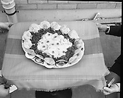 """B.I.M.National Seafood Cook..1972..05.05.1972..05.05.1972..5th May 1972..The final of the """"National Seafood Cook 1972"""" was held in the Great Southern Hotel,Killarney,Co Kerry.The winner was Miss Mary Coleman (14 years)from the Vocational School, Claremorris,Co Mayo.The title of the winning dish was """"Amber Ring. She was chosen from 18 regional finalists...Image of """"Catch Of The Season"""",the third placed dish. This dish was the creation of Maria Geoghegan."""