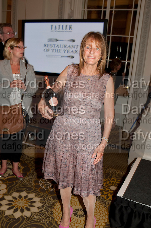 RUTH ROGERS, Tatler Restaurant Awards and the launch of the Tatler Restaurant Guide 2011. The Langham. Portland Place. London. 9 May 2011. <br /> <br />  , -DO NOT ARCHIVE-© Copyright Photograph by Dafydd Jones. 248 Clapham Rd. London SW9 0PZ. Tel 0207 820 0771. www.dafjones.com.